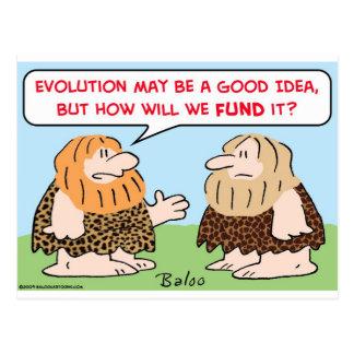 caveman evolution fund postcard