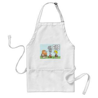 caveman fire greenhouse gases emission adult apron