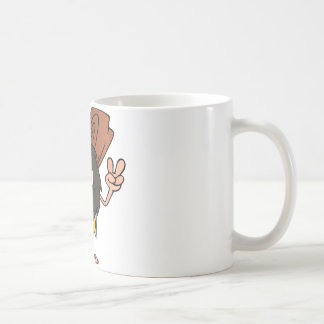 Caveman Gesturing The Peace Sign Coffee Mug