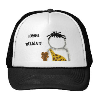 Caveman Ghost Trucker Hat