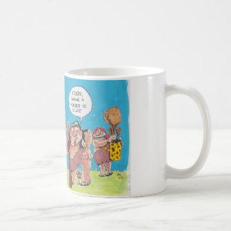 Caveman golfer mug