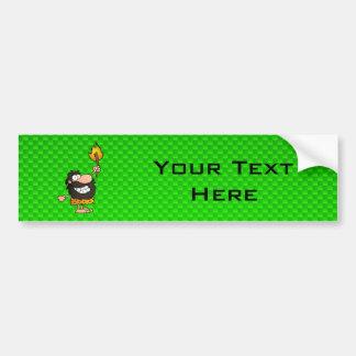 Caveman; Green Car Bumper Sticker