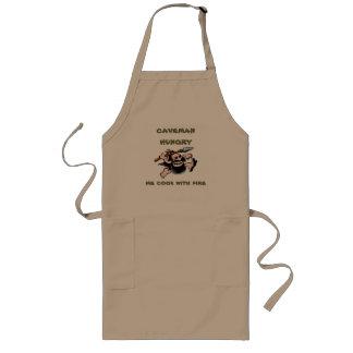 caveman hungry long apron