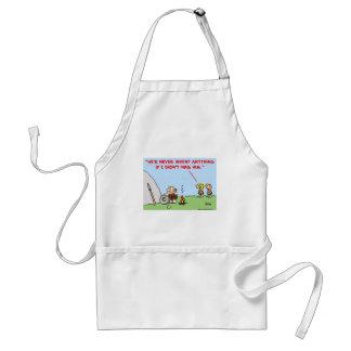 caveman invent nag adult apron