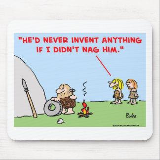 caveman invent nag mouse pad