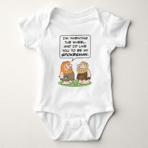 caveman invent wheel spokesman t-shirts