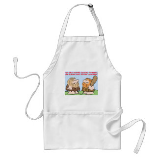 CAVEMAN INVENTED COOKING LEFTOVERS ADULT APRON