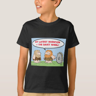 caveman invention daisy wheel computers T-Shirt