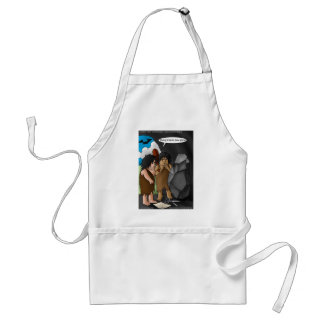 Caveman Invention Funny Gifts Tees Mugs Cards Adult Apron