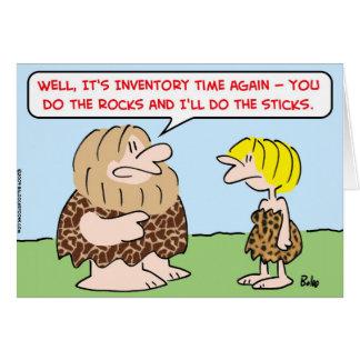caveman inventory time rocks sticks card