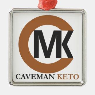 Caveman Keto Christmas Ornament