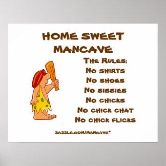 Caveman Mancave Rules2 Poster