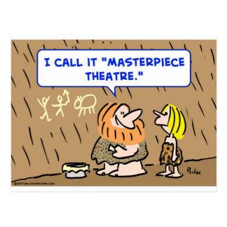caveman masterpiece theatre theater postcard
