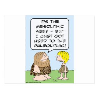 caveman mesolithic paleolithic postcard