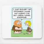 caveman opposable thumb carpal-tunnel syndrome mouse pad
