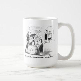 Caveman out of his league coffee mug