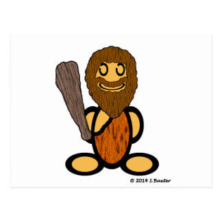Caveman (plain) postcard