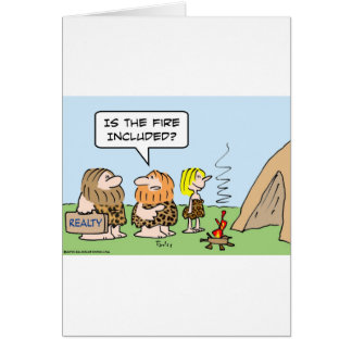caveman realty fire included card