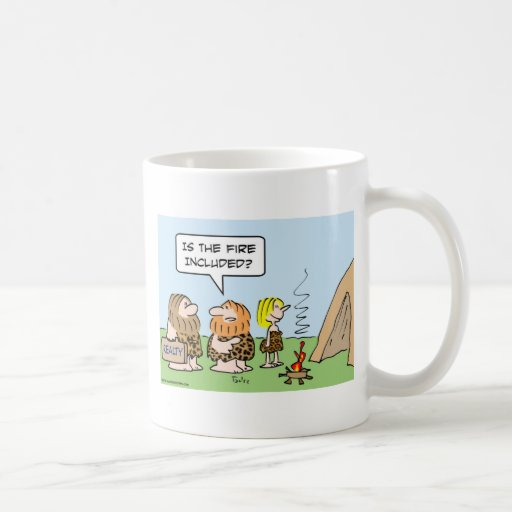 caveman realty fire included mug