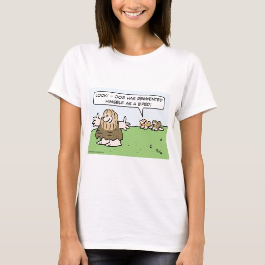 Caveman reinvents himself as a biped. T-Shirt