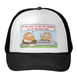 caveman resume cave wall personnel trucker hat