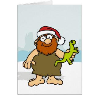 Caveman Santa Card