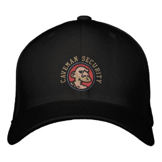 CAVEMAN SECURITY EMBROIDERED BASEBALL HAT