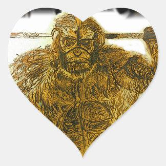 Caveman strength heart sticker
