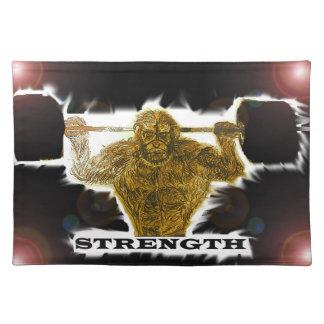 Caveman strength cloth placemat
