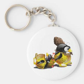 Caveman Tux in Love Keychain