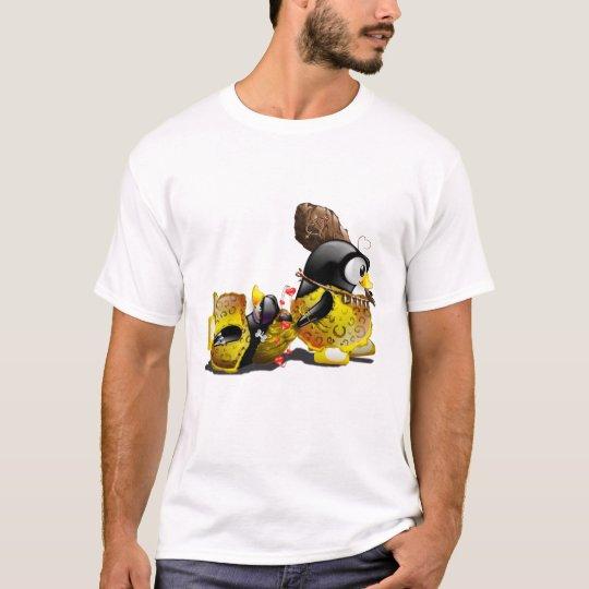 Caveman Tux in Love T-Shirt