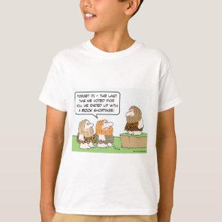 caveman voted rock shortage T-Shirt