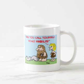 caveman wheel homo habilis mug