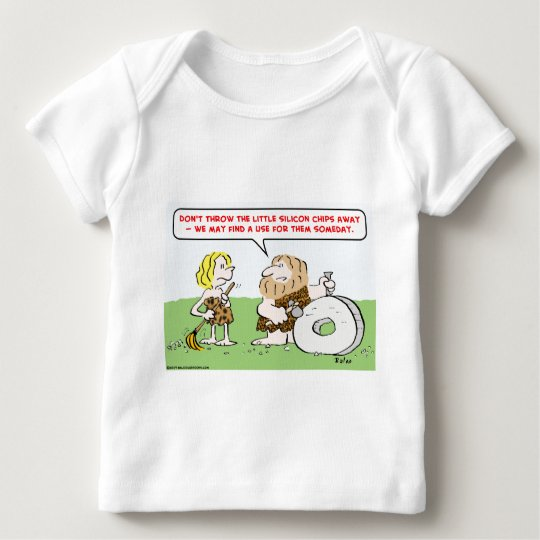 caveman wheel silicon chips baby T-Shirt