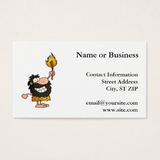 Caveman with Torch Business Card