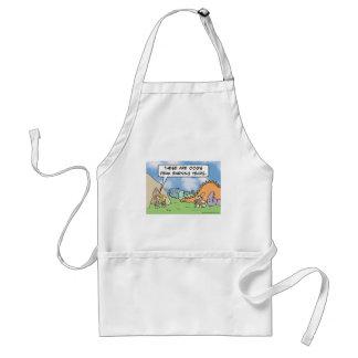 Caveman's peak earning years adult apron