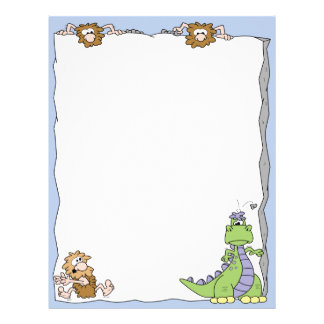 Cavemen and a Dinosaur Letterhead