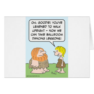Cavemen and ballroom dancing. card