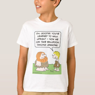 Cavemen and ballroom dancing. T-Shirt
