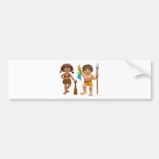 Cavemen Bumper Sticker