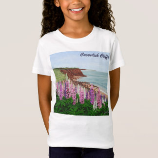 Cavendish Cliffs and Spring Lupins, PEI T-Shirt