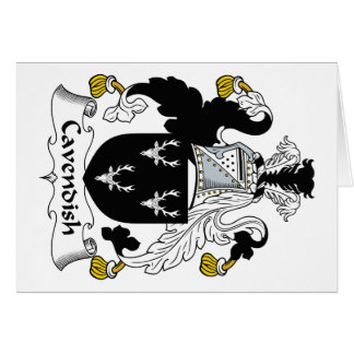 Cavendish Family Crest Greeting Card