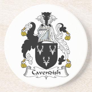 Cavendish Family Crest Drink Coaster
