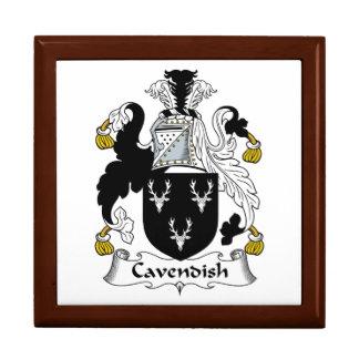 Cavendish Family Crest Jewelry Box