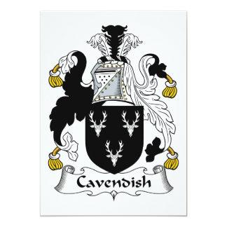 Cavendish Family Crest 5x7 Paper Invitation Card