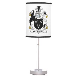 Cavendish Family Crest Table Lamp
