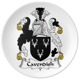 Cavendish Family Crest Porcelain Plate