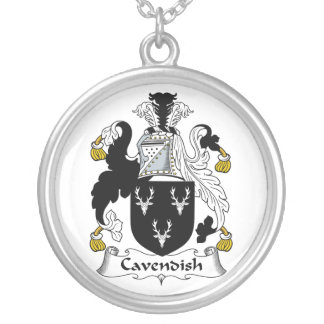 Cavendish Family Crest Round Pendant Necklace