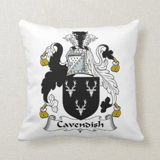 Cavendish Family Crest Throw Pillows