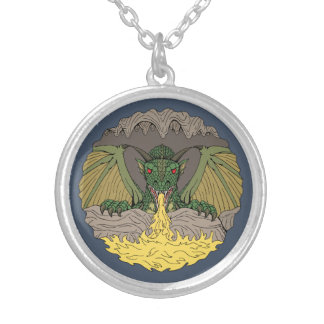 Cavern Dragon 2016 Silver Plated Necklace